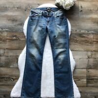 Lucky Brand Women's Stockton Lola Boot Cut Jeans Low Rise Faded Blue -Size 6/28-