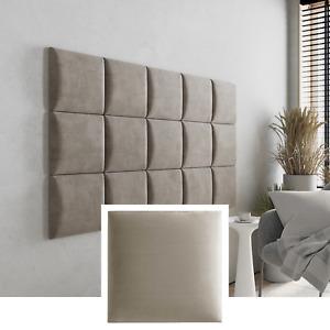 Polsterpaneel Wandkissen Quadrat Wandpolster Polster Kopfteil Bett Wandpaneele