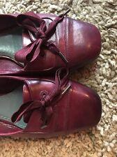 Marc Jacobs Ballet Flats Burgundy Red Leather Dress Shoes Sz 37 US Sz 7