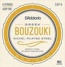 D'Addario EJ97-6  6-String Nickel Wound Greek Tuning Bouzouki Strings.