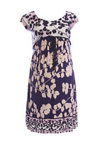 OLIAN Maternity Women's Multi Floral Print Empire Waist Dress XS $148 NWT