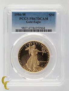 1986-W Gold Proof 1 oz American Eagle PCGS Graded PR 67 DCAM
