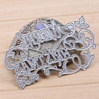 Merry Christmas Cutting Dies Stencils Set DIY Scrapbooking Embossing Decor Craft