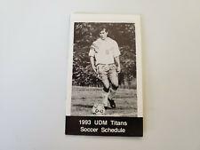 RS20 University of Detroit 1993 Men's Soccer Pocket Schedule - Budweiser
