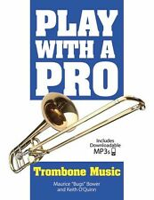 Play With A Pro Trombone LEARN to Lesson Tutor Easy Music Book Online Audio