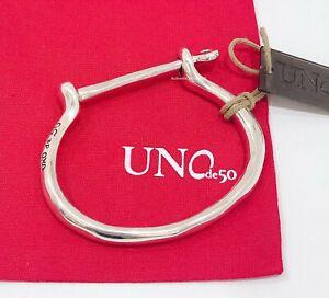 NEW UNO de 50 Unisex Men Women Silver Shackled Bangle Bracelet Medium Large