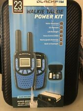 Black Fin Walkie Talkie Power Kit W/ Case and 12 LED Power Lantern New (Other)