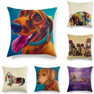 45cm*45cm The Dachshund dog linen/cotton throw pillow covers cushion cover
