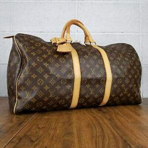 100% Authentic Louis Vuitton Monogram Keepall 55 M41424 travel bag used