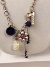 "Betsey Johnson Necklace ""Wonderland"" Mixed Multi-Charm $$65 #W13a"