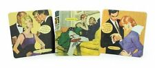 BNIP Anne Taintor COASTER SETS 2 of each 3 designs Taintor w a Twist Set of 6