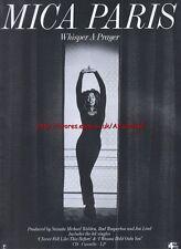 Mica Paris Whisper A Prayer Album 1993 Magazine Advert #2196