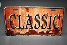 CLASSIC VINTAGE LOOK METAL ALUMINUM CAR LICENSE PLATE TAG