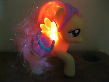 My Little Pony Light Up Yellow Butterfly vinyl sparkle saddle shine jointed