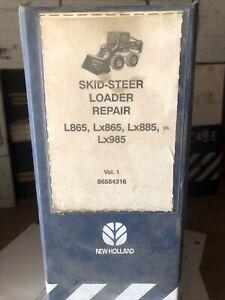 New Holland L865 Lx865 Lx885 Lx985 Skid Steer Loader Service Repair Manual OEM!