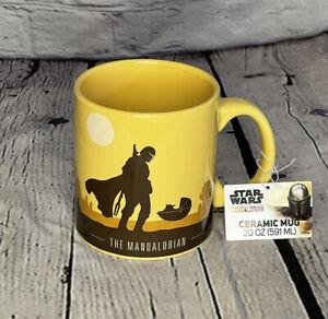 Star Wars The Mandalorian Baby Yoda Ceramic 20oz Yellow Coffee Mug