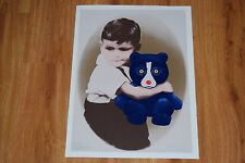 George Rodrigue Blue Dog Baby George & Boogie Bear Silkscreen Print Signed Art