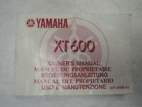Fahrerhandbuch Yamaha XT 600 E K Bj. 1991 Bedienungsanleitung