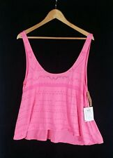RUSTY Lu Lu Knockout Pink Tank Top SIZE 12 BNWT RRP $39.99 w / Fault see Desc