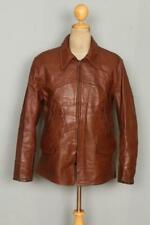 Vtg 40s Richman Bros Horsehide Leather Half Belt Sports Motorcycle Jacket