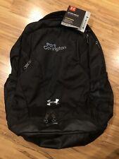 NWT Under Armour Unisex Men Women UA Team Hustle Backpack Bag Black