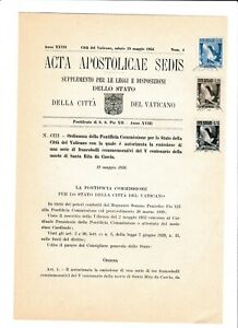 s39532 VATICANO ACTA APOSTLICAE SEDIS 19 5 1956 Santa Rita da Cascia