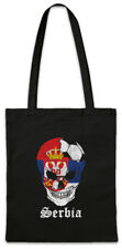 Serbia Football Skull I Shopper Shopping Bag serbian Soccer Flag World