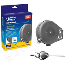 Dlux 15M Retractable Laundry Washing Outdoor/Indoor Wall Mounted Clothes Line