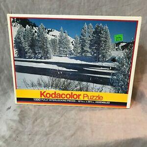 Kodak  Kodacolor Jigsaw Puzzle Salmon River 1000 Pieces