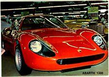 Cartolina Auto Abarth 1300 Non Viaggiata