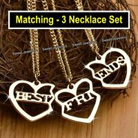 Matching Best Friends Heart Necklaces Xmas Gifts For Her Daughters Sisters Niece