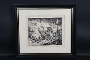 Hexensabbat Lithografie Alfred KUBIN (1877-1959) (BM5971)
