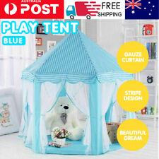 BULE Children Kids Play Tent Fairy Princess Girls Boys Hexagon Playhouse House