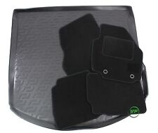 FORD MONDEO mk4 TURNIER  SW  07-14 Tailored black floor car mats + boot tray mat