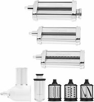 KitchenAid - Pasta Cutter and Fresh Prep Attachment Bundle - White/Metal