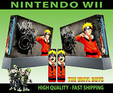 Nintendo Wii Adesivo Naruto Uzumaki ANIME MANGA fermiamo gli Shinobi Eroe Skin e 2 SKIN Pad