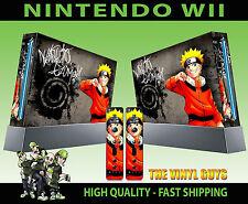 Nintendo Wii AUTOCOLLANT Naruto Uzumaki Manga Shinobi Hero Skin & 2 Pad Stickers