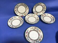 COPELAND SPODE CHINESE ROSE PATTERN SET OF 6 SAUCERS TEA OR DINNER SERVICE