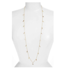Melinda Maria Women's Gold Clear Gianna Long Fringe Necklace 35244