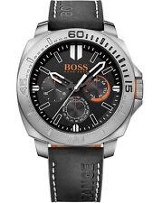 Hugo Boss Orange - Sao Paulo Silver/Black Leather Quartz Men's Watch 1513298