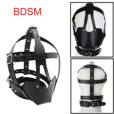 BDSM Fetish Bondage Head Harness Ball Gag Mask Restraint Erotic Role Play Toys