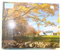 """Golden 500 Piece Jigsaw Puzzle """"Autumn In New England"""" New sealed Vintage"""