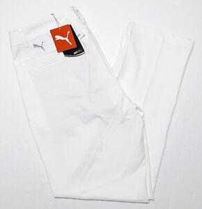 PUMA Performance Jackpot Golf Pants 578181 Bright White 34 x 31 ~ New