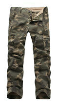 Mens FOXJEANS Causal Camo Military Pants Army Cargo Work Trousers 40