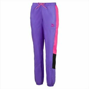 Puma women Tailored For Sport Og Retro Woven Track pants Purple Size L NWT