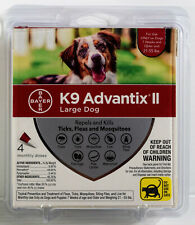 Bayer K9 Advantix Ii 4 Doses Flea & Tick Treatment for Large Dog 21-55 lb Dogs