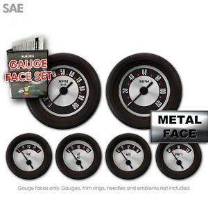 Gauge Face Set - SAE American Retro Rodder III Street Set Fast Race High RPM