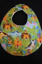Jungle Animals baby bib - handmade
