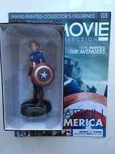 MARVEL MOVIE COLLECTION ISSUE 3 CAPTAIN AMERICA EAGLEMOSS FIGURINE FIGURE & MAG