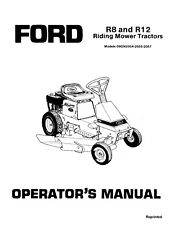 NEW HOLLAND Ford SE4536 R8 R12 Riding Mower Tractor OPERATORS MANUAL